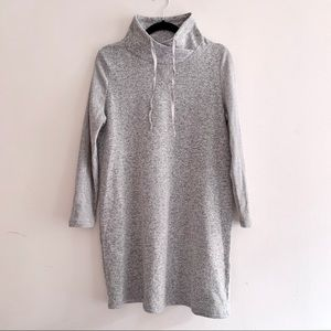 Funnel Heather Grey Cozy Fleece Sweatshirt Dress
